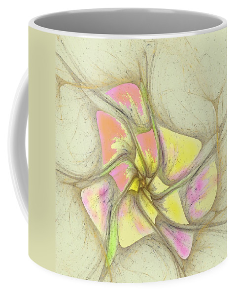 Coffee Mug featuring the digital art Floral 2-19-10-a by David Lane