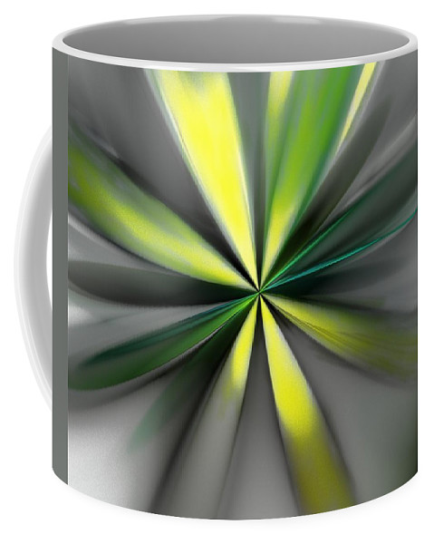 Digital Painting Coffee Mug featuring the digital art Floral 2-19-19 by David Lane