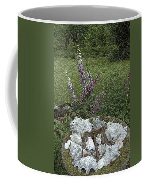 Floral Coffee Mug featuring the photograph Floral Abstract With Anchor by Robert Ponzoni