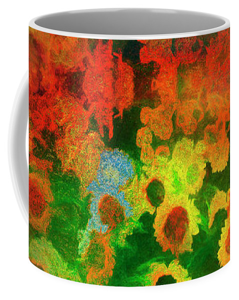 Ag004914 Coffee Mug featuring the digital art Floral Abundance by Edmund Nagele