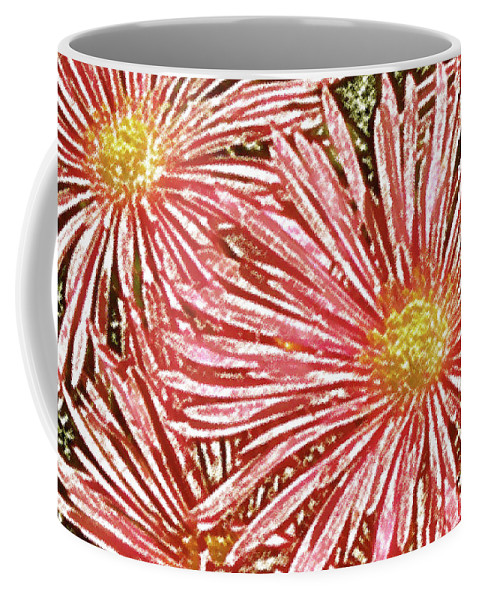 Floral Abstract Coffee Mug featuring the photograph Floral Design No 1 by Ben and Raisa Gertsberg