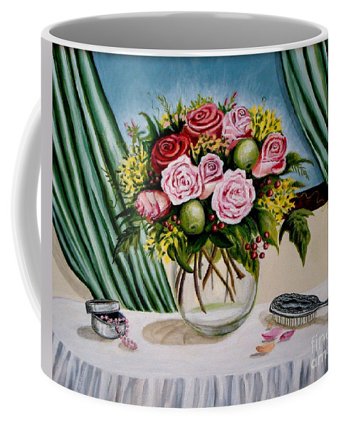 Floral Coffee Mug featuring the painting Floral Essence by Elizabeth Robinette Tyndall
