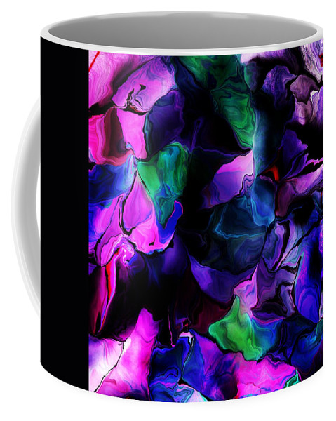 Fine Art Coffee Mug featuring the digital art Floral Expressions 080616-2 by David Lane