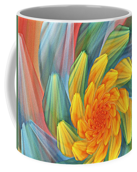Digital Painting Coffee Mug featuring the digital art Floral Expressions 1 by David Lane