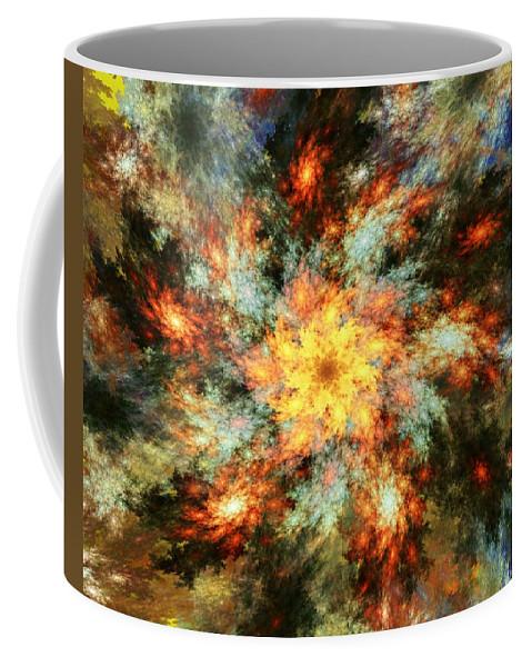Fine Art Coffee Mug featuring the digital art Floral Fantasy 072010 by David Lane
