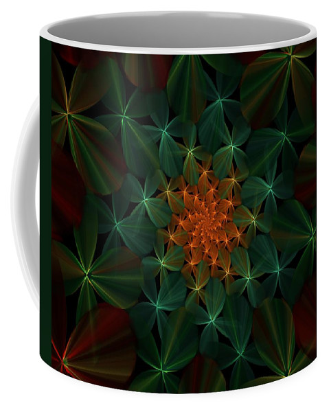 Fine Art Coffee Mug featuring the digital art Floral Fantasy 073110 by David Lane