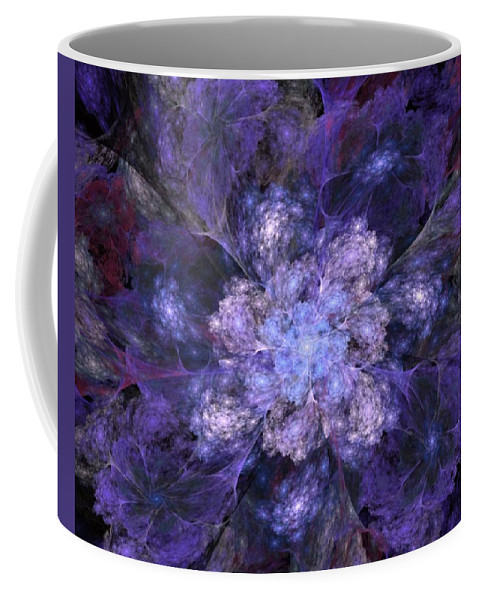 Digital Painting Coffee Mug featuring the digital art Floral Fantasy 1 by David Lane