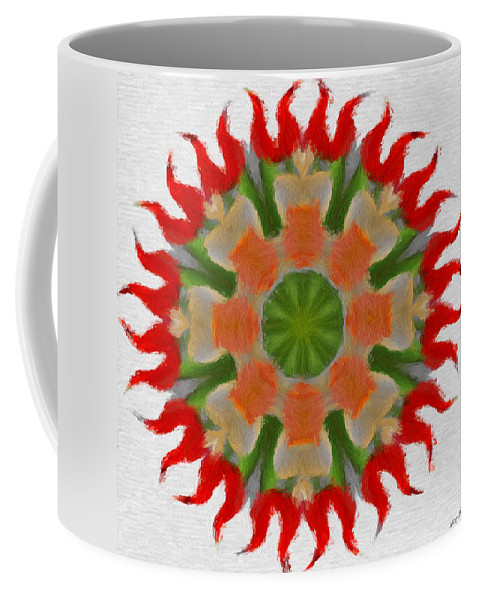 Abstract Coffee Mug featuring the painting Floral Flare by Jeffrey Kolker