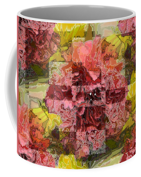 Floral Coffee Mug featuring the digital art Floral Flux by Tim Allen