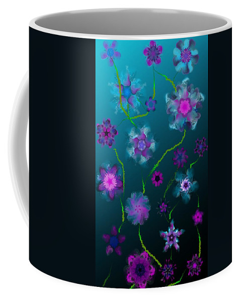 Floral Coffee Mug featuring the digital art Floral Fun 1 by David Lane