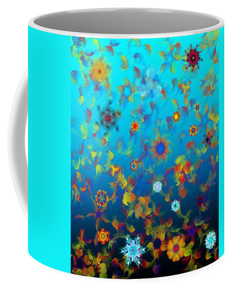 Floral Expressions Coffee Mug featuring the digital art Floral Madness 1 by David Lane