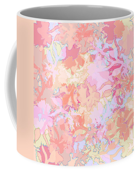 Abstract Coffee Mug featuring the digital art Floral Menagerie by Rachel Christine Nowicki