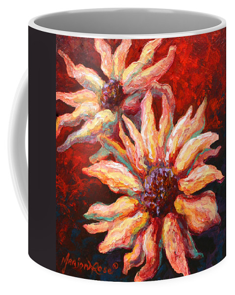Floral Coffee Mug featuring the painting Floral Mini by Marion Rose