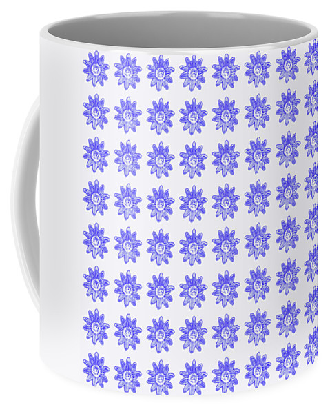 Floral Pattern Coffee Mug featuring the mixed media Floral Pattern 2 by Bishopston Fine Art
