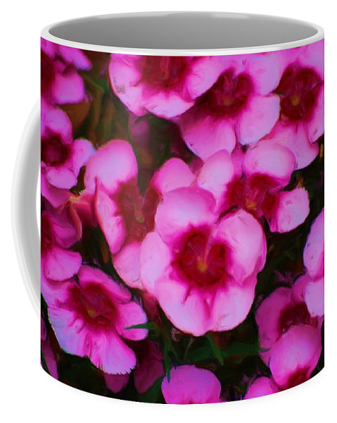 Floral Coffee Mug featuring the photograph Floral Study In Red And Pink by David Lane