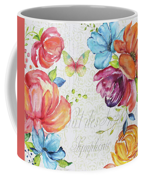 Floral Coffee Mug featuring the painting Floral Symphonie by Jean Plout