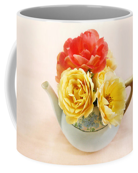 Flower Coffee Mug featuring the photograph Floral Tea by Marilyn Hunt