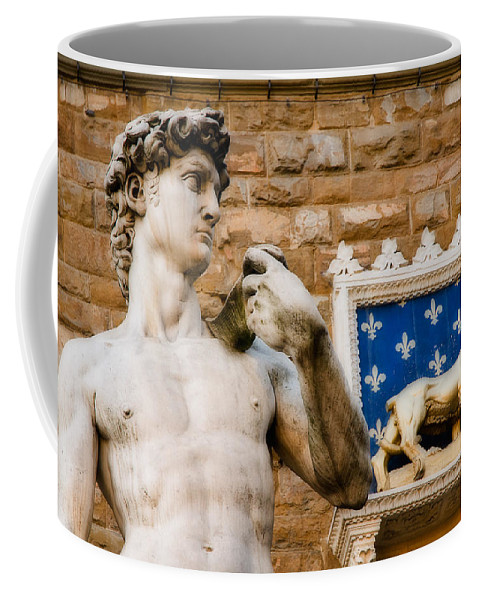 Michaelangelo David Coffee Mug featuring the photograph Florentine Icons by Mick Burkey