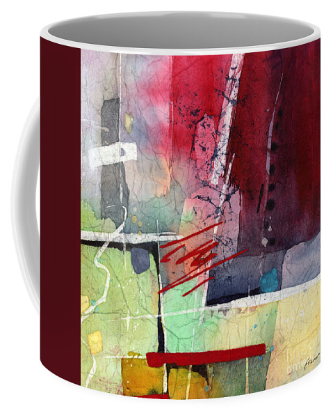 Abstract Coffee Mug featuring the painting Florid Dream - Red by Hailey E Herrera