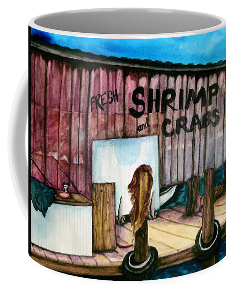 Market Coffee Mug featuring the painting Florida Fresh by Lil Taylor