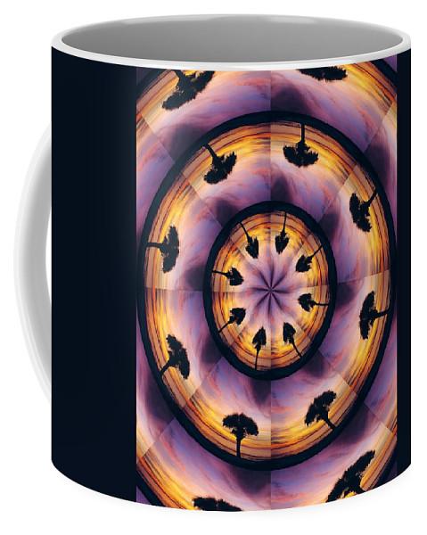 Kaliedoscope Coffee Mug featuring the digital art Florida Fun by Peg Urban
