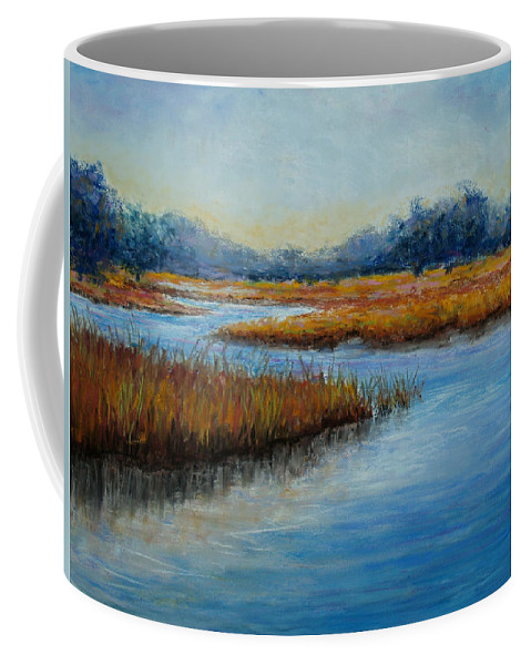 Landscape Coffee Mug featuring the painting Florida Marsh by Susan Jenkins