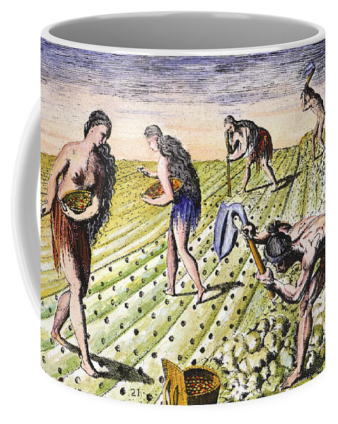 1591 Coffee Mug featuring the photograph Florida Natives, 1591 by Granger