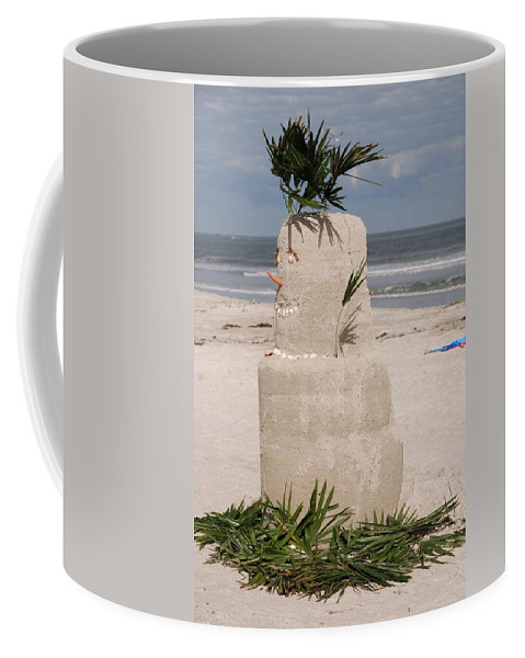 Sandman Coffee Mug featuring the photograph Florida Snow Man by Susanne Van Hulst
