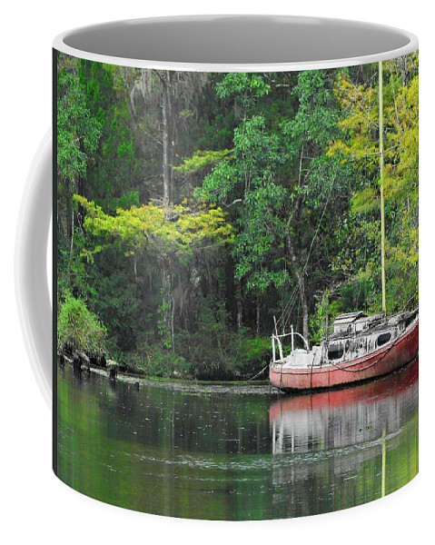 Landscape Coffee Mug featuring the photograph Floridian Fall by Laura Ragland