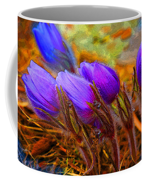 Flowers Coffee Mug featuring the photograph Flourescent Flowers by Heather Coen