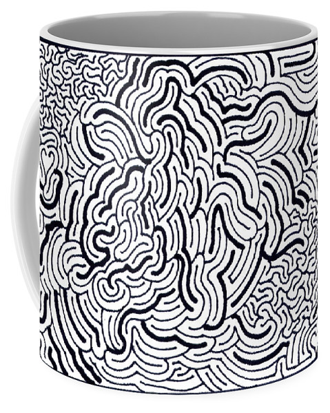 Mazes Coffee Mug featuring the drawing Flow by Steven Natanson
