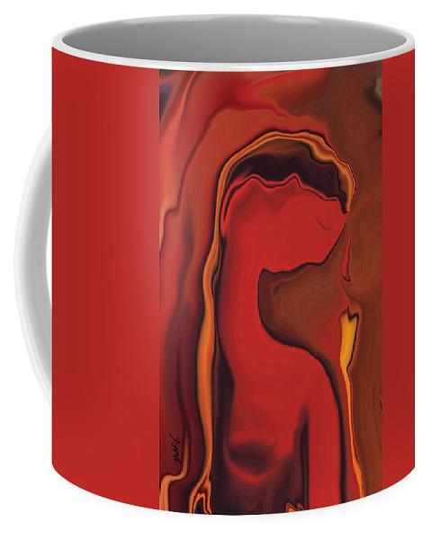 Black Coffee Mug featuring the digital art Flower And Women by Rabi Khan