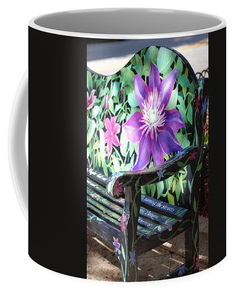 Macro Coffee Mug featuring the photograph Flower Bench by Rob Hans