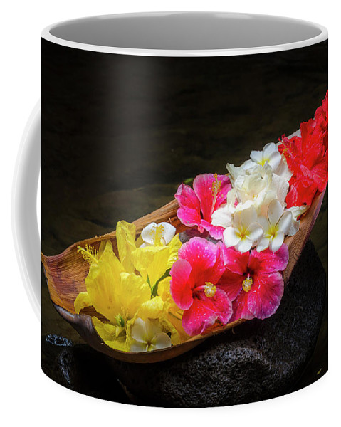 Flowers Coffee Mug featuring the photograph Flower Boat by Daniel Murphy