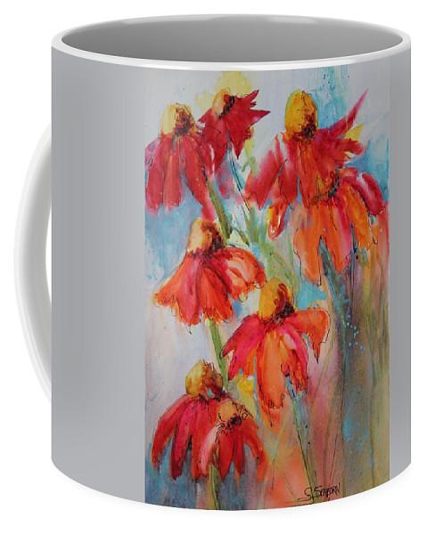 Coneflowers Coffee Mug featuring the painting Flower Dance IIi by Susan Seaborn
