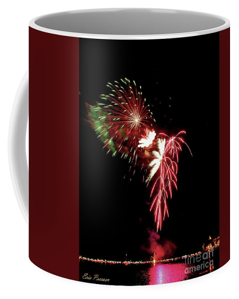 Fireworks Coffee Mug featuring the photograph Flower by Eric Pearson