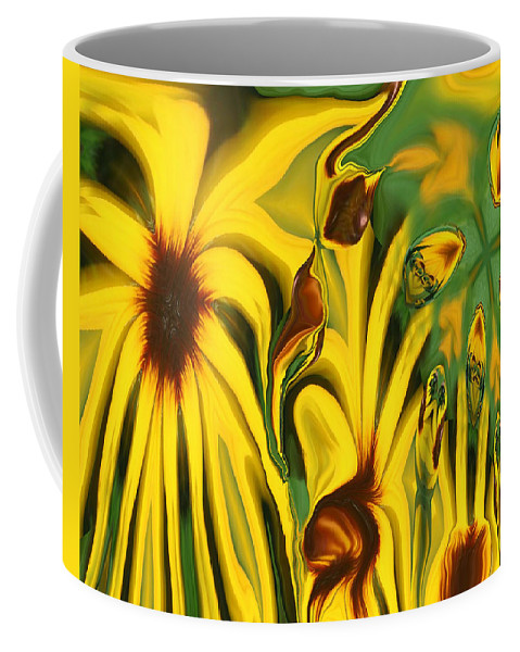 Abstract Coffee Mug featuring the photograph Flower Fun by Linda Sannuti