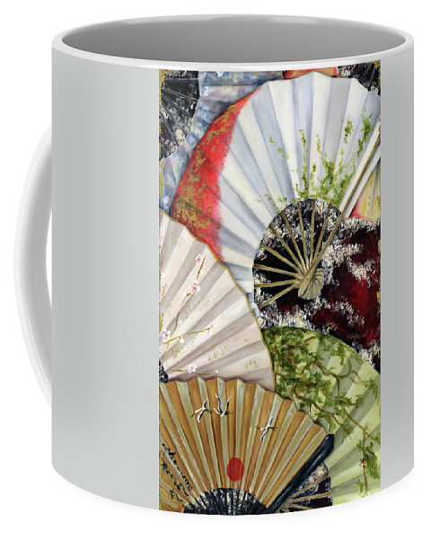 Japanese Coffee Mug featuring the painting Flower Garden by Hiroko Sakai