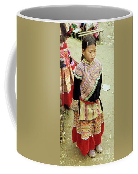 Vietnam Coffee Mug featuring the photograph Flower Hmong Girl 04 by Rick Piper Photography