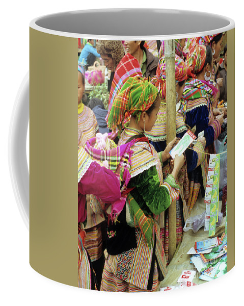 Flower Hmong Coffee Mug featuring the photograph Flower Hmong Mother And Baby by Rick Piper Photography