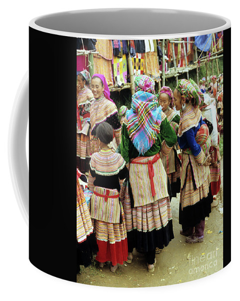 Vietnam Coffee Mug featuring the photograph Flower Hmong Women 03 by Rick Piper Photography