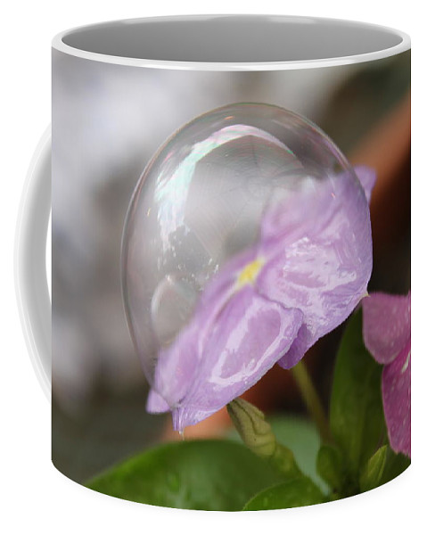 Flower Coffee Mug featuring the photograph Flower In A Bubble by Lauri Novak