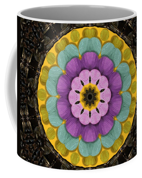 Flower Coffee Mug featuring the mixed media Flower In Paradise by Pepita Selles