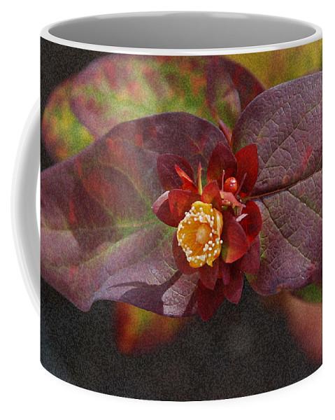 Flower Coffee Mug featuring the photograph Flower Leaves by Carol Eliassen