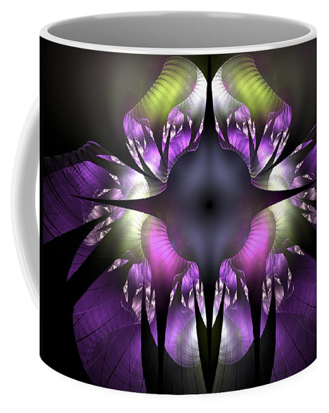 Fractal Coffee Mug featuring the digital art Flower Of Hope by Amorina Ashton