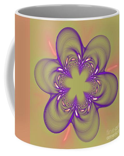 Fractal Coffee Mug featuring the photograph Flower Of Pink - Purple by Deborah Benoit