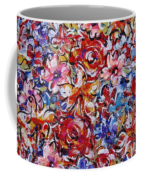 Flowers Coffee Mug featuring the painting Flower Passion by Natalie Holland