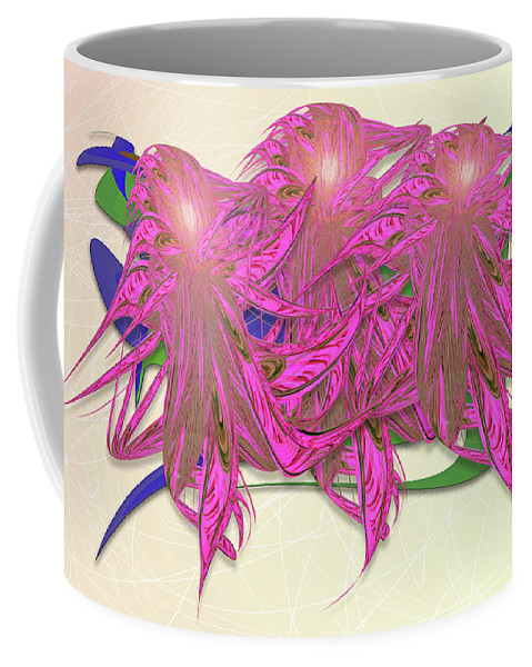 Flower Plant Coffee Mug featuring the digital art Flower Plant by Warren Lynn