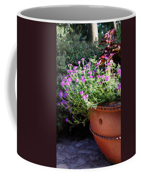 Flower Coffee Mug featuring the photograph Flower Pot by Tina Meador