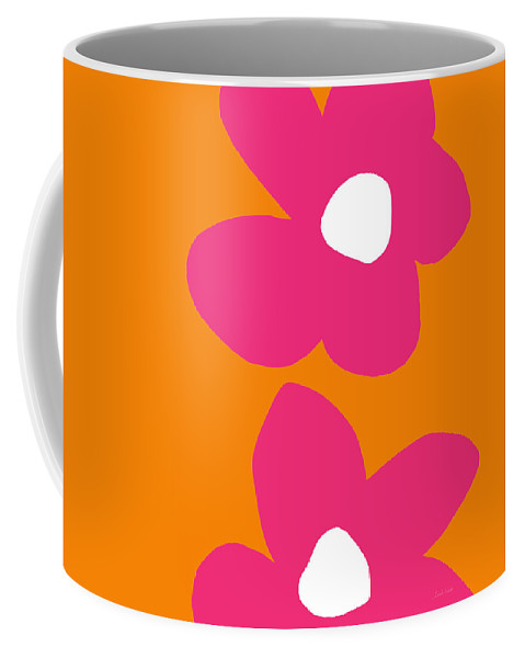 Flower Coffee Mug featuring the digital art Flower Power 2- Art by Linda Woods by Linda Woods